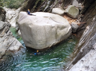 Canyoning in Val Bodengo